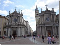 Turin Plazza San Carlo 2 churches