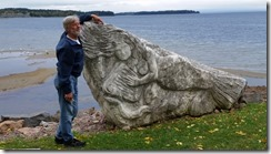 Tom and Burlington waterfront carving