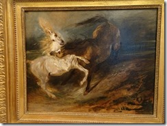 Delacroix, Two Horses fighting ina Stormy landscape