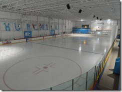 Community building hockey rink