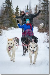 Joyce and Tom on dog sled