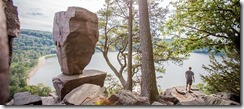 Devils Lake Balanced Rock