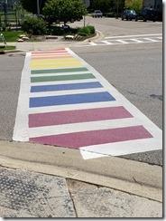 colorful cross walk