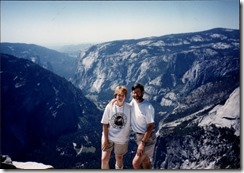 Tom and Joyce at the top of Half Dome