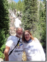 Joyce and Tom at Hidden Falls