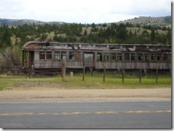 Nevada City old wooden unrestored train