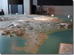 Reykjavik the settlement exhibition - relief map of Iceland