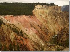 Yosemite Lower falls colorful cliffs