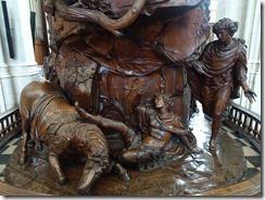 Leuven - St Peter's pulpit closeup