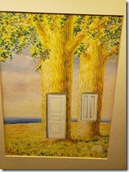 Magritte - trees with door and window