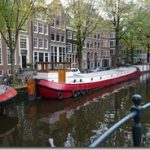 Amsterdam - moored boats