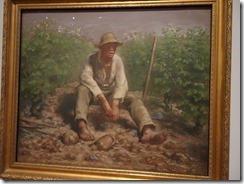 Amsterdam - Van Gogh Museum - Millet Wineyard Laborer Resting