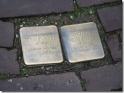 Amsterdam - plaques showing Jews that were killed- stumple stones