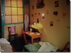 Anne Frank house - room with magazine pictures on the wall