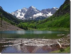 Maroon Bells Reflective Lake