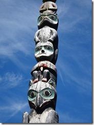 Sitka Baranov Totem Pole close up