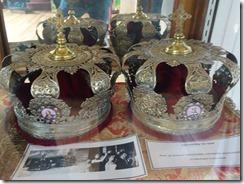 Sitka Saint Michael's Church crown on display