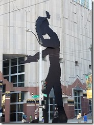 Art Museum Hammering Man statue