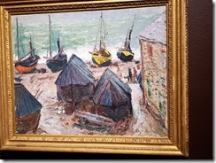 Monet - Boats on the Beach at Etretat