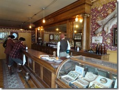 Skagwag saloon replica inside