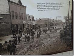 building the railroad down Skagway's main street